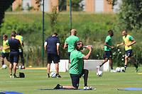 Benoit Assou Ekotto  - 30.06.2015 - Reprise Entrainement de Saint Etienne - 2015/2016<br />Photo :  Jean Paul Thomas / Icon Sport