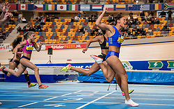 11-02-2017 NED: AA Drink NK Indoor, Apeldoorn<br /> Naomi Sedney wordt Nederlands kampioen op de 60 meter