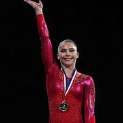 McKayla Maroney, Long Beach, California, winning the Vault and Floor Exercise during the Senior Women Competition at The 2013 P&G Gymnastics Championships, USA Gymnastics' National Championships at the XL, Centre, Hartford, Connecticut, USA. 17th August 2013. Photo Tim Clayton