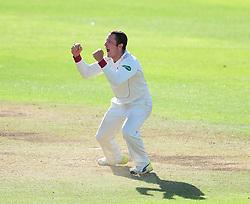 Roelof van der Merwe of Somerset celebrates the wicket of Gordan Muchall.  - Mandatory by-line: Alex Davidson/JMP - 05/08/2016 - CRICKET - The Cooper Associates County Ground - Taunton, United Kingdom - Somerset v Durham - County Championship - Day 2