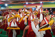 The first twenty nuns after receiving their Geshe-ma degree at Drepung Lachi Monastery in Mundgod, Karnataka, India on December 22, 2016