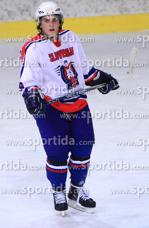 Andrej Zidan at friendly ice-hockey game between Slovenian National Team U20 and HKMK Bled, before World Championship Division 1, Group A in Herisau, Switzerland, on December 11, 2008, in Bled, Slovenia. (Photo by Vid Ponikvar / Sportida)