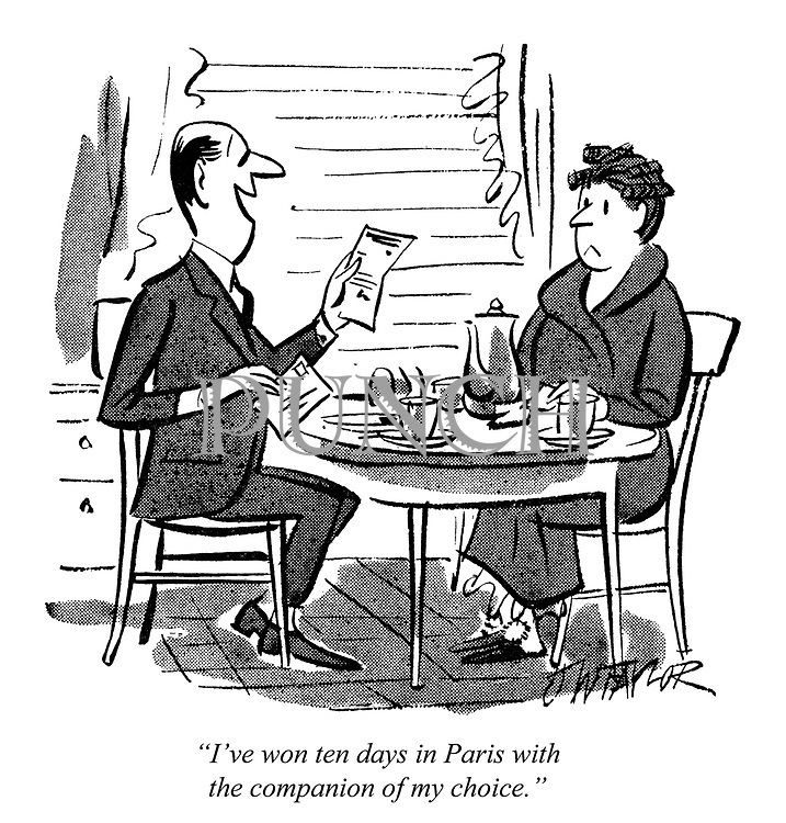 """""""I've won ten days in Paris with the companion of my choice."""""""