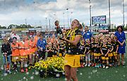 Den Bosch's Maarje Paumen celebrates winning the final of the EHCC 2017 at Den Bosch HC, The Netherlands, 5th June 2017