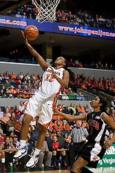 Virginia guard Monica Wright (22) shoots against Maryland.  The Virginia Cavaliers women's basketball team faced the #4 ranked Maryland Terrapins at the John Paul Jones Arena in Charlottesville, VA on January 18, 2008.