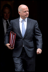 Foreign Secretary William Hague  leaves  No10 Downing Street after the Government's weekly Cabinet meeting, London, United Kingdom. Tuesday, 3rd September 2013. Picture by Andrew Parsons / i-Images