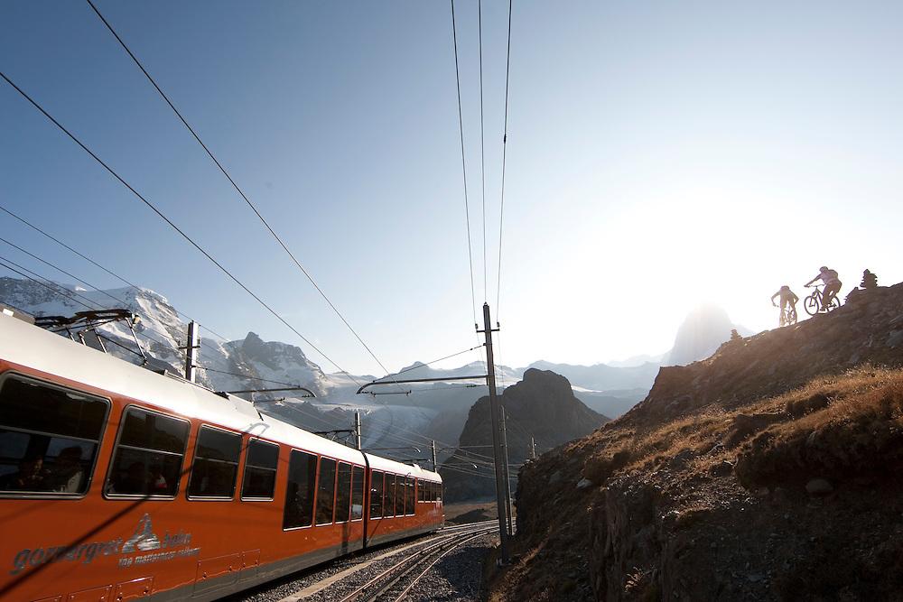 Rider: René Wildhaber and Ross Schnell.Location: Zermatt (Switzerland)