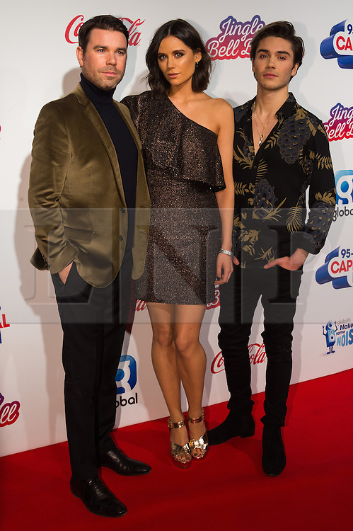 © Licensed to London News Pictures. 03/12/2016. DAVE BERRY, LILAH PARSONS and GEORGE SHELLY  attend Capital's Jingle Bell Ball with Coca-Cola at London's O2 Arena London, UK. Photo credit: Ray Tang/LNP