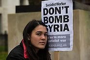 28 Nov 2015 - London protest to oppose UK bombing of Syria.