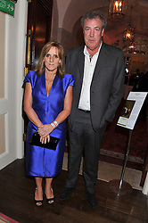 JEREMY CLARKSON and his wife FRANCES at Tatler's Jubilee Party in association with Thomas Pink held at The Ritz, Piccadilly, London on 2nd May 2012.