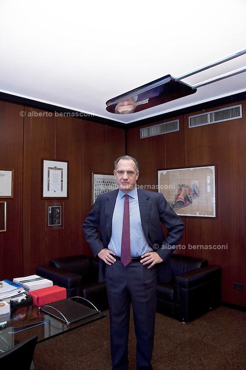 Milano, Sergio Dompè, ad dell'industria farmaceutica DOMPE'