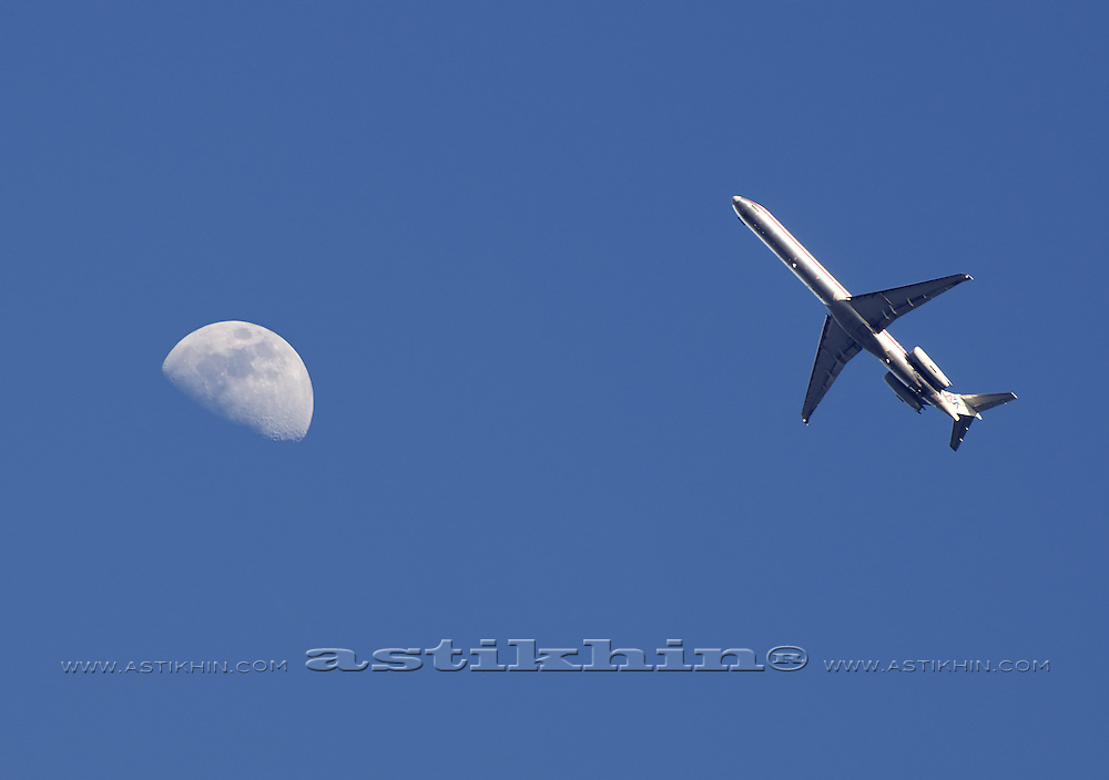 Two flying objects