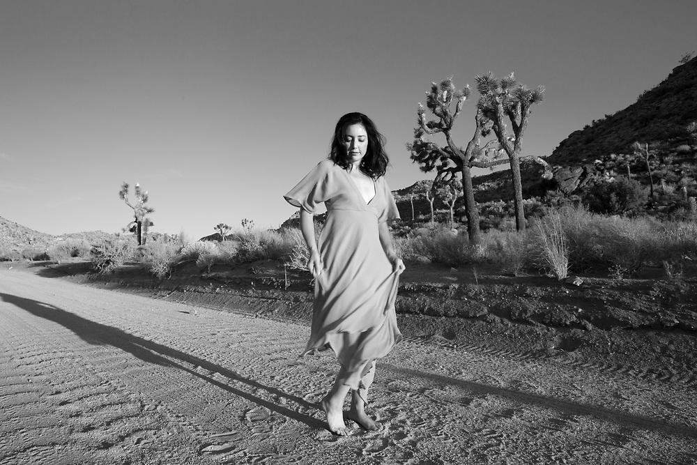 Erica Urech, in Joshua Tree.