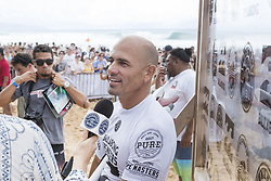 December 11, 2017 - Haleiwa, Hawaii, U.S. - 11X World Champion Kelly Slater of the USA advances directly to Round Three of the 2017 Billabong Pipe Masters after winning Heat 8 of Round One at Pipe, Oahu, Hawaii, USA.  Slater returned to competition after being sidelined with a foot injury since July this year and his comeback was promising with the heat win...Billabong Pipe Masters 2017. (WSL via ZUMA Wire/ZUMAPRESS.com)
