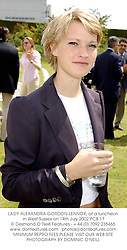 LADY ALEXANDRA GORDON-LENNOX, at a luncheon in West Sussex on 14th July 2002.	PCB 17