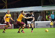 23rd December 2017, Fir Park, Motherwell, Dundee; Scottish Premier League football, Motherwell versus Dundee; Dundee's Sofien Moussa goes past Motherwell's Peter Hartley