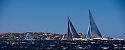 Saudade and Indio sailing in the Loro Piana Superyacht Regatta.