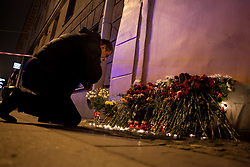 April 3, 2017 - Saint Petersburg, Russia - People lay flowers near the station Tekhnologichesky institut where as a result of explosion 10 people have died. St Petersburg, Russia. 3 april 2017  (Credit Image: © Valya Egorshin/NurPhoto via ZUMA Press)