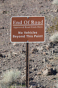 """End of Road"" sign in Arizona"