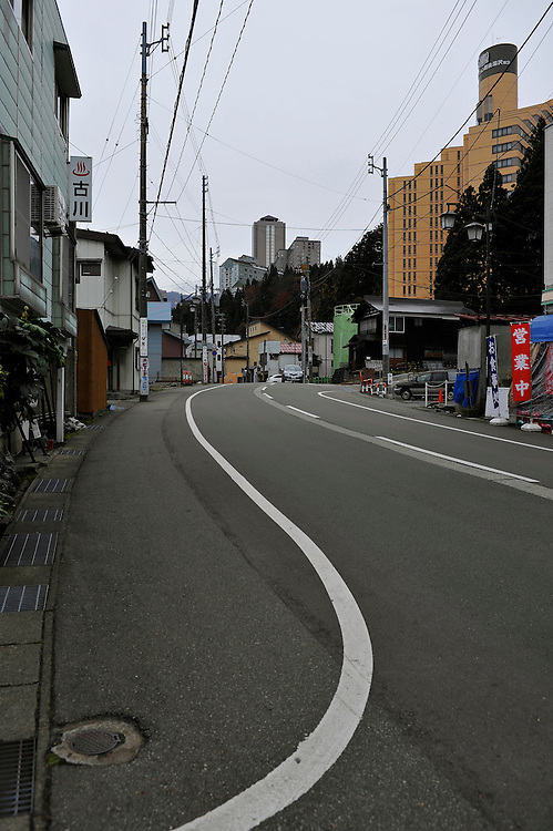 View of Yuzawa town.La Vie Apartments in the back.