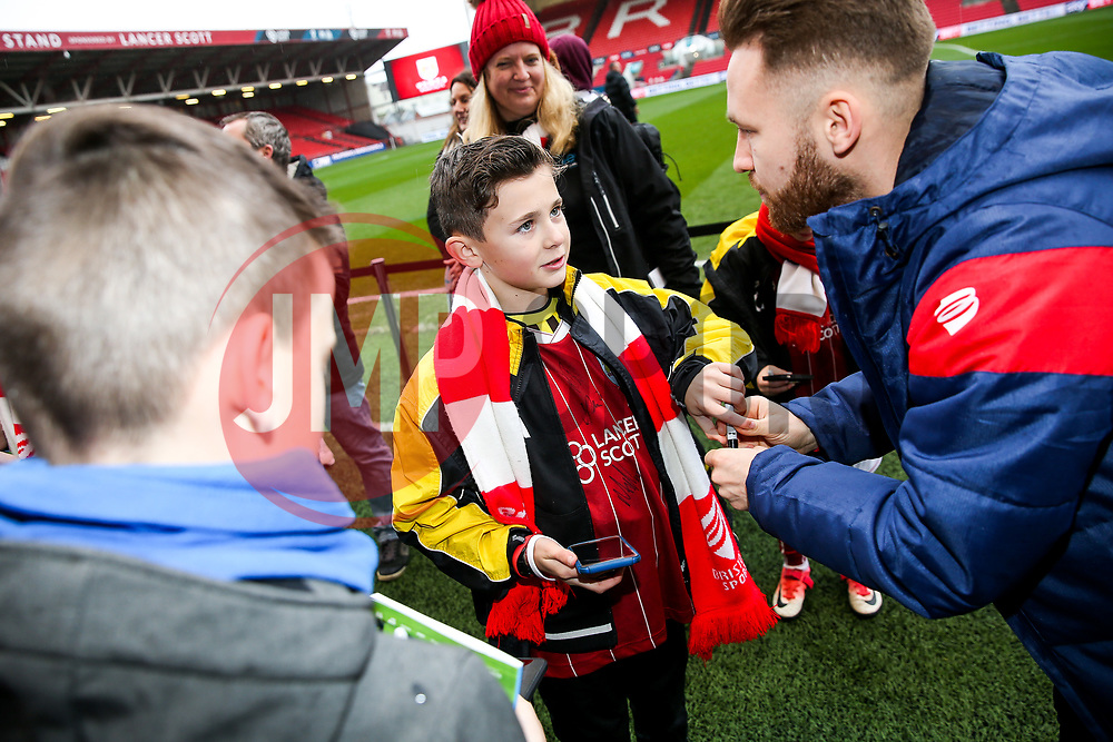 Meet the player with Matty Taylor and Jamie Paterson of Bristol City - Rogan/JMP - 27/01/2018 - Ashton Gate Stadium - Bristol, England - Bristol City v Queens Park Rangers - Sky Bet Championship.