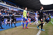 The players come out for the start of the match during the EFL Sky Bet Championship match between Reading and Leeds United at the Madejski Stadium, Reading, England on 10 March 2018. Picture by Graham Hunt.