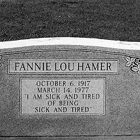 Fannie Lou Hammer was instrumental in organizing Mississippi Freedom Summer for the Student Nonviolent Coordinating Committee (SNCC), and later became the Vice-Chair of the Mississippi Freedom Democratic Party, attending the 1964 Democratic National Convention in Atlantic City, New Jersey, in that capacity.