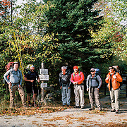 The brothers at the beginning of the backpacking trip through the Mahoosuc Notch - Maine