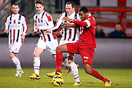 Onderwerp/Subject: FC Twente - Willem II - Eredivisie<br /> Reklame:  <br /> Club/Team/Country: <br /> Seizoen/Season: 2012/2013<br /> FOTO/PHOTO: Leroy FER (R) of FC Twente in duel with Ricardo IPPEL (L) of Willem II. (Photo by PICS UNITED)<br /> <br /> Trefwoorden/Keywords: <br /> #04 $94 ±1355229149625<br /> Photo- & Copyrights © PICS UNITED <br /> P.O. Box 7164 - 5605 BE  EINDHOVEN (THE NETHERLANDS) <br /> Phone +31 (0)40 296 28 00 <br /> Fax +31 (0) 40 248 47 43 <br /> http://www.pics-united.com <br /> e-mail : sales@pics-united.com (If you would like to raise any issues regarding any aspects of products / service of PICS UNITED) or <br /> e-mail : sales@pics-united.com   <br /> <br /> ATTENTIE: <br /> Publicatie ook bij aanbieding door derden is slechts toegestaan na verkregen toestemming van Pics United. <br /> VOLLEDIGE NAAMSVERMELDING IS VERPLICHT! (© PICS UNITED/Naam Fotograaf, zie veld 4 van de bestandsinfo 'credits') <br /> ATTENTION:  <br /> © Pics United. Reproduction/publication of this photo by any parties is only permitted after authorisation is sought and obtained from  PICS UNITED- THE NETHERLANDS