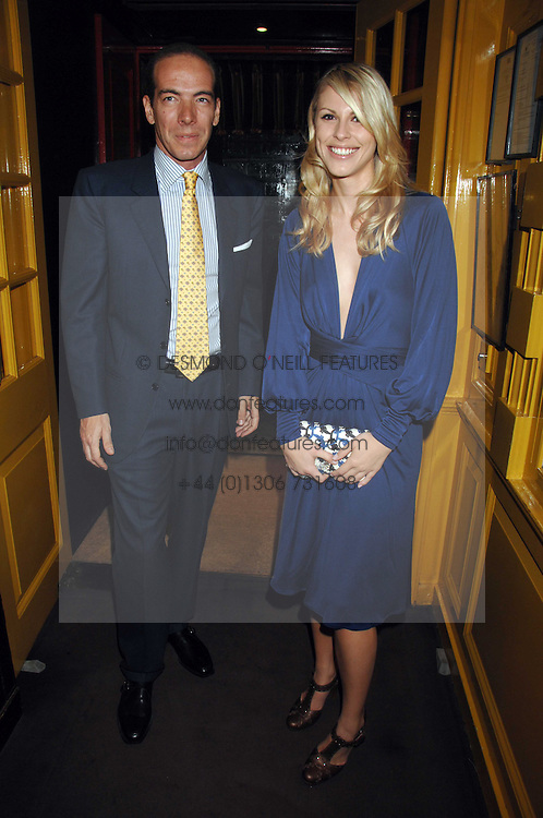 PETRINA KHASHOGGI and PEPPINO GUILLOT at a dinner hosted by fashion label Issa at Annabel's, Berekely Square, London on 24th April 2007.<br />