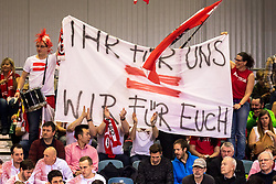 02.02.2018, VAZ, St. Pölten, AUT, Davis Cup, Österreich vs Weissrussland, Europa-Afrika-Zone, 1. Runde, im Bild Fans von Österreich // Fans of Austria during the Davis Cup - Europe - African zone - 1st Round between Austria and Belarus at the VAZ in St. Pölten, Austria on 2018/02/02. EXPA Pictures © 2018, PhotoCredit: EXPA/ Sebastian Pucher