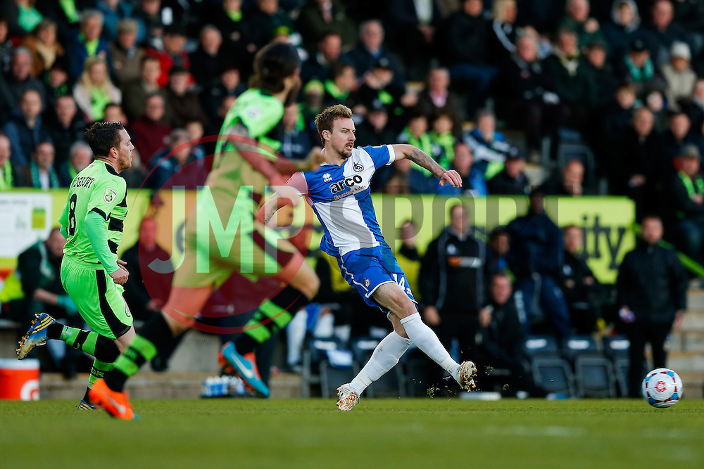 Chris Lines of Bristol Rovers - Photo mandatory by-line: Rogan Thomson/JMP - 07966 386802 - 29/04/2015 - SPORT - FOOTBALL - Nailsworth, England - The New Lawn - Forest Green Rovers v Bristol Rovers - Vanarama Conference Premier - Playoff Semi Final 1st Leg.