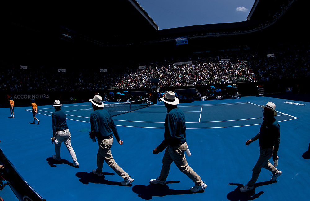 Line judges on day nine of the 2018 Australian Open in Melbourne Australia on Wednesday January 24, 2018.<br /> (Ben Solomon/Tennis Australia)