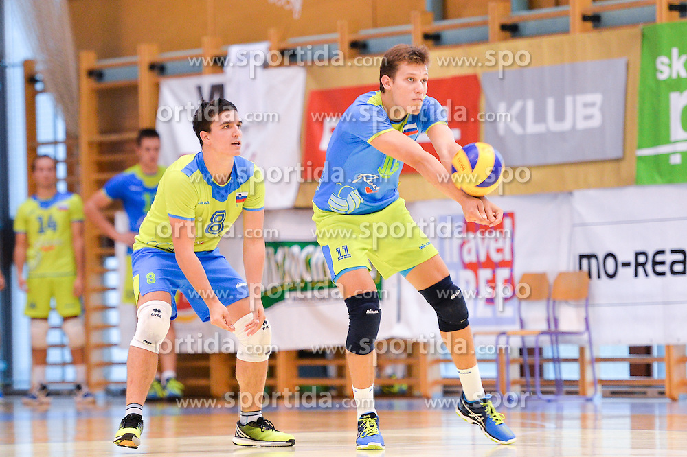 Ziga Donik of Slovenia during the Friendly Volleyball match between OK Panvita Pomgrad and U21 Nationalteam of Slovenia on August 28, 2015 in Murska Sobota, Slovenia. Photo by Mario Horvat / Sportida
