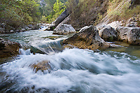 Fast Flowing Rio Borosa river, Cazorla National Park, Spain