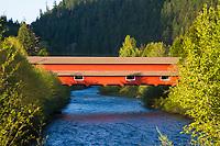 Covered bridge near Oakridge, Oregon.