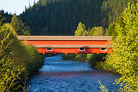 Covered bridge near Oakridge, Oregon.