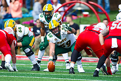 NORMAL, IL - October 05: Karson Schoening during a college football game between the ISU (Illinois State University) Redbirds and the North Dakota State Bison on October 05 2019 at Hancock Stadium in Normal, IL. (Photo by Alan Look)