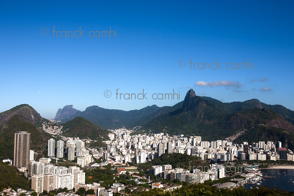 aerial view of botafogo from the sugar loaf in rio de janeiro brazil