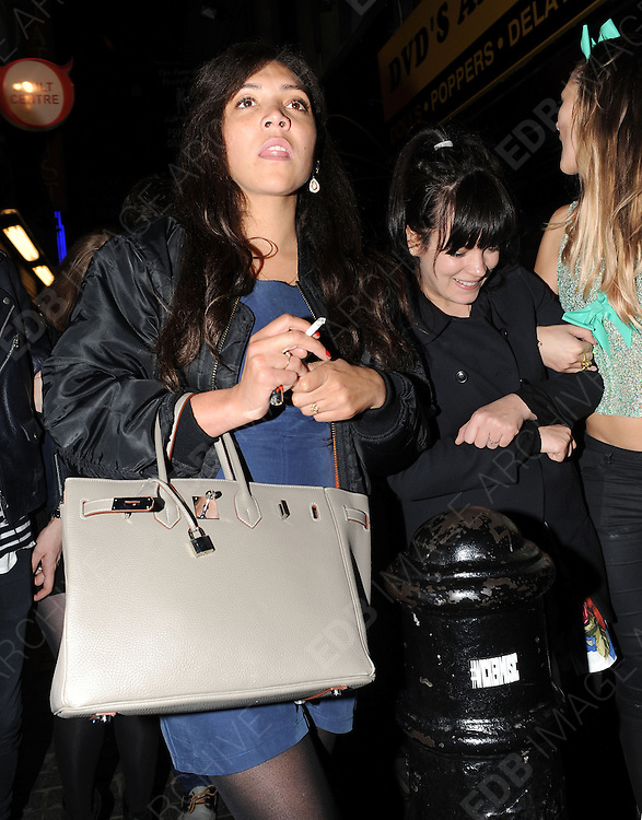 03.MAY.2012. LONDON<br /> <br /> SINGER LILY ALLEN AND TV PRESENTER MIQUITA OLIVER AT THE BOX CLUB IN SOHO, CENTRAL LONDON <br /> <br /> BYLINE: EDBIMAGEARCHIVE.COM<br /> <br /> *THIS IMAGE IS STRICTLY FOR UK NEWSPAPERS AND MAGAZINES ONLY*<br /> *FOR WORLD WIDE SALES AND WEB USE PLEASE CONTACT EDBIMAGEARCHIVE - 0208 954 5968*
