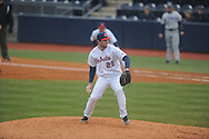 Ole Miss' Sam Smith (29) pitches vs. UT-Martin at Oxford-University Stadium in Oxford, Miss. on Wednesday, February 20, 2013. Ole Miss won 15-2 to improve to 4-0. Smith (1-0) picked up the win in his first outing of the season, working 3.0 scoreless innings and allowing one hit with one walk and three strikeouts.