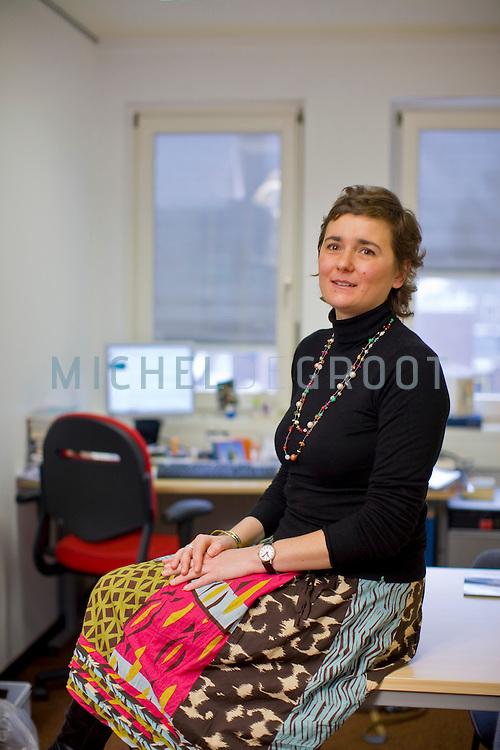 Sabrina Corbellini, onderzoekster aan de Rijksuniversiteit Groningen (RUG) in Groningen, The Netherlands op 25 February, 2009. (Photo by Michel de Groot)