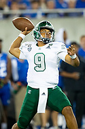 Eastern Michigan Eagles quarterback Mike Glass III (9) throws a pass during the first half at Kroger Field in Lexington, Ky., Saturday, Sept. 7, 2019.