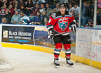 KELOWNA, CANADA - OCTOBER 3:  Tyson Baillie #24 of the Kelowna Rockets skates on the ice against the Vancouver Giants at the Kelowna Rockets on October 3, 2012 at Prospera Place in Kelowna, British Columbia, Canada (Photo by Marissa Baecker/Getty Images) *** Local Caption *** Tyson Baillie;