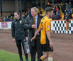 Berwick Rangers manager John Brownlie and Berwick Rangers Aidan McLlduff at the end. Cove Rangers have become the SPFL's newest side and ended Berwick Rangers' 68-year stay in Scotland's senior leagues by earning a League Two place. Berwick Rangers 0 v 3 Cove Rangers, League Two Play-Off Second Leg played 18/5/2019 at Berwick Rangers Stadium Shielfield Park.