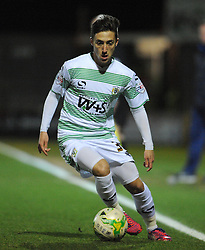 Yeovil Town's Josh Sheenan  - Photo mandatory by-line: Harry Trump/JMP - Mobile: 07966 386802 - 03/03/15 - SPORT - Football - Sky Bet League One - Yeovil v Walsall - Huish Park, Yeovil, England.
