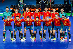 Team Spain during futsal match between Spain and France at Day 2 of UEFA Futsal EURO 2018, on January 31, 2018 in Arena Stozice, Ljubljana, Slovenia. Photo by Ziga Zupan / Sportida