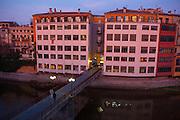 Pont de Sant Agustí at dawn Girona, Catalonia, Spain