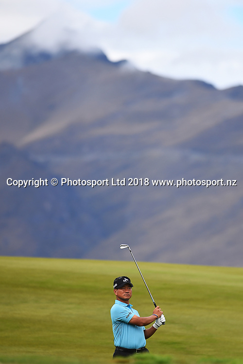 KJ Choi from Korea during Round 2 of the 2018 ISPS Handa New Zealand Golf Open. The Hills, Arrowtown. New Zealand. Friday 2 March 2018. ©Copyright Photo: Chris Symes / www.photosport.nz
