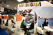 lo stand della Sardegna alla Bit 2014, 34esima Borsa internazionale del turismo